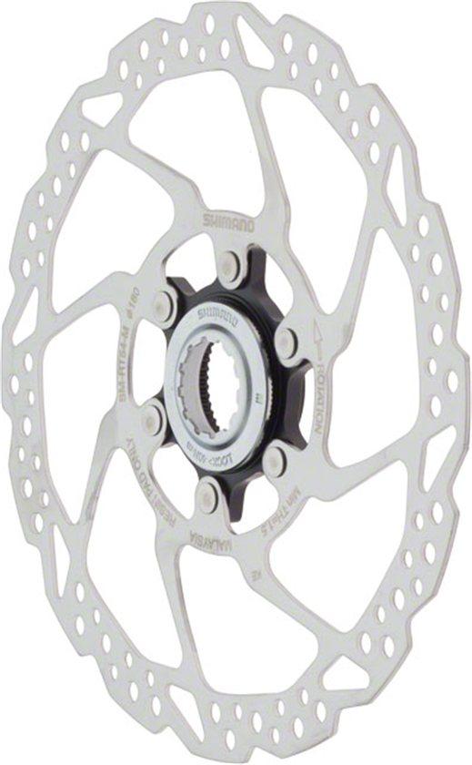New Shimano 180mm Centerlock Disc Brake Rotor w Lock Ring SM-RT53 M Center Lock