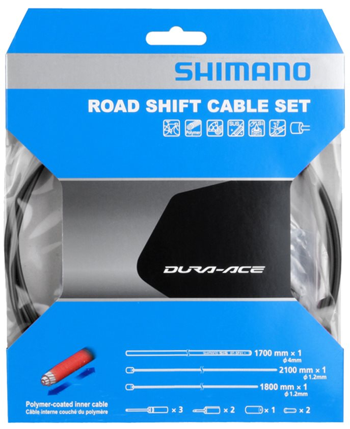 Black Shimano Dura-Ace R9100 SP41 Polymer-Coated Derailleur Cable Set