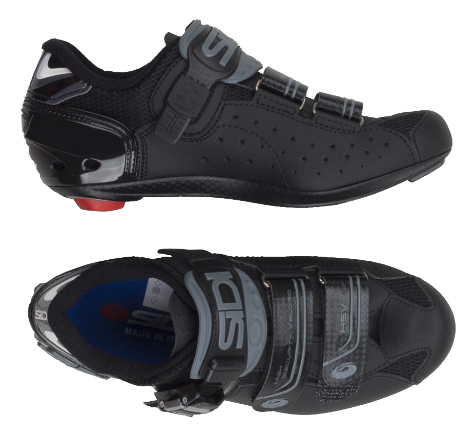 black sidi bike shoes