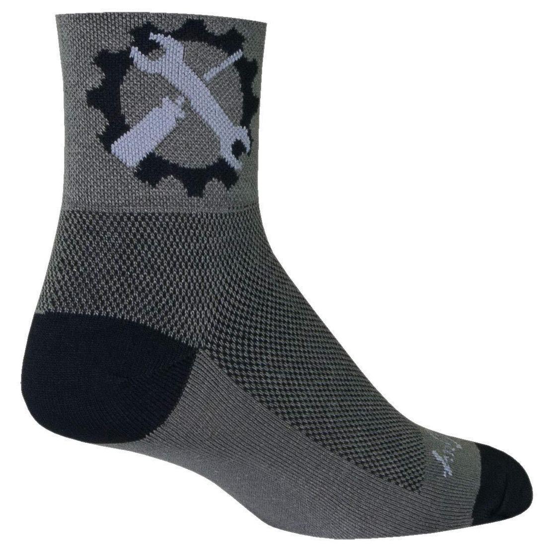 SockGuy Classic Tuck Sock Gray LG//XL