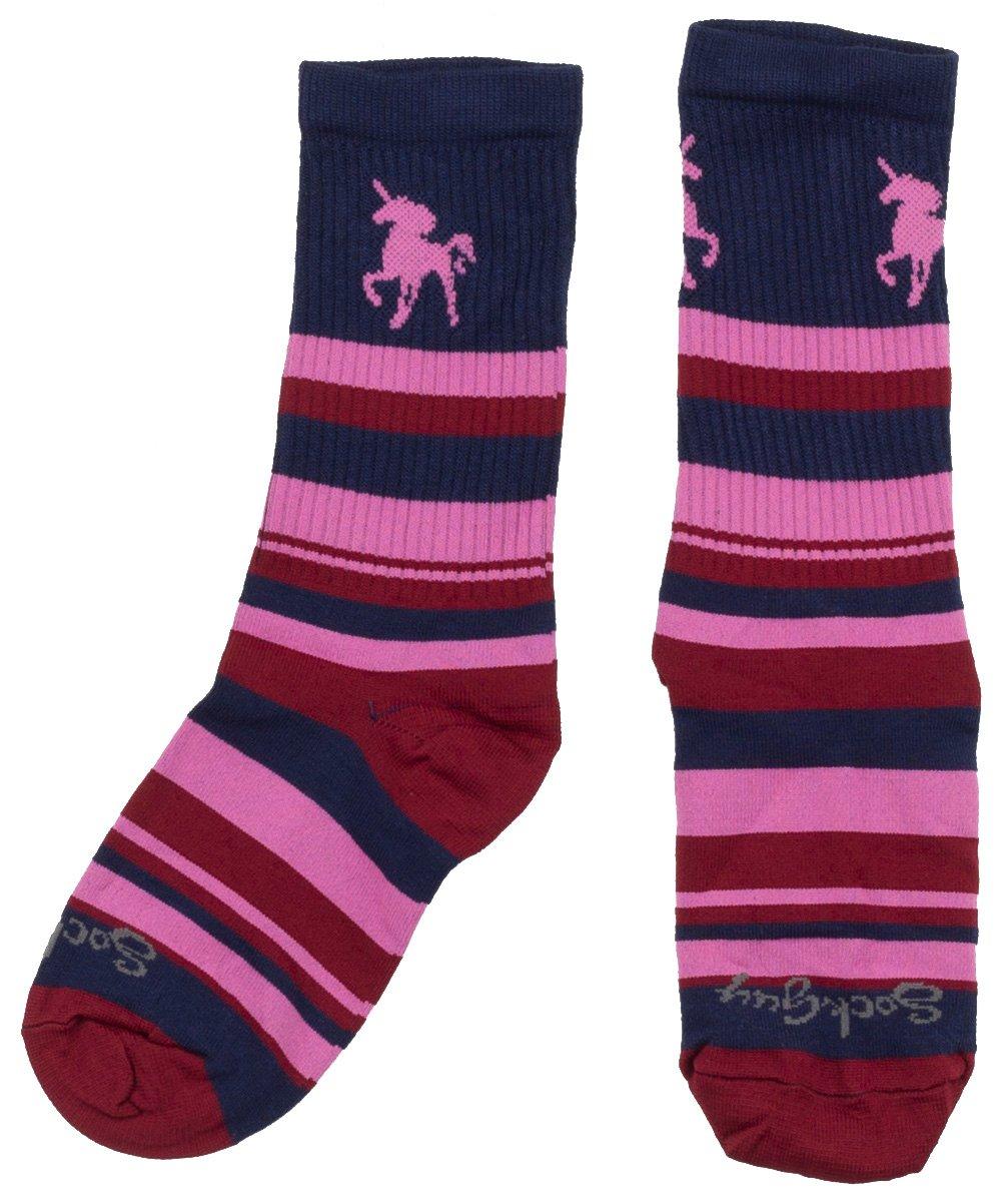 Sock Guy | | Pink Unicorn | Crew Cycling Socks Women's | Size Large/Extra Large