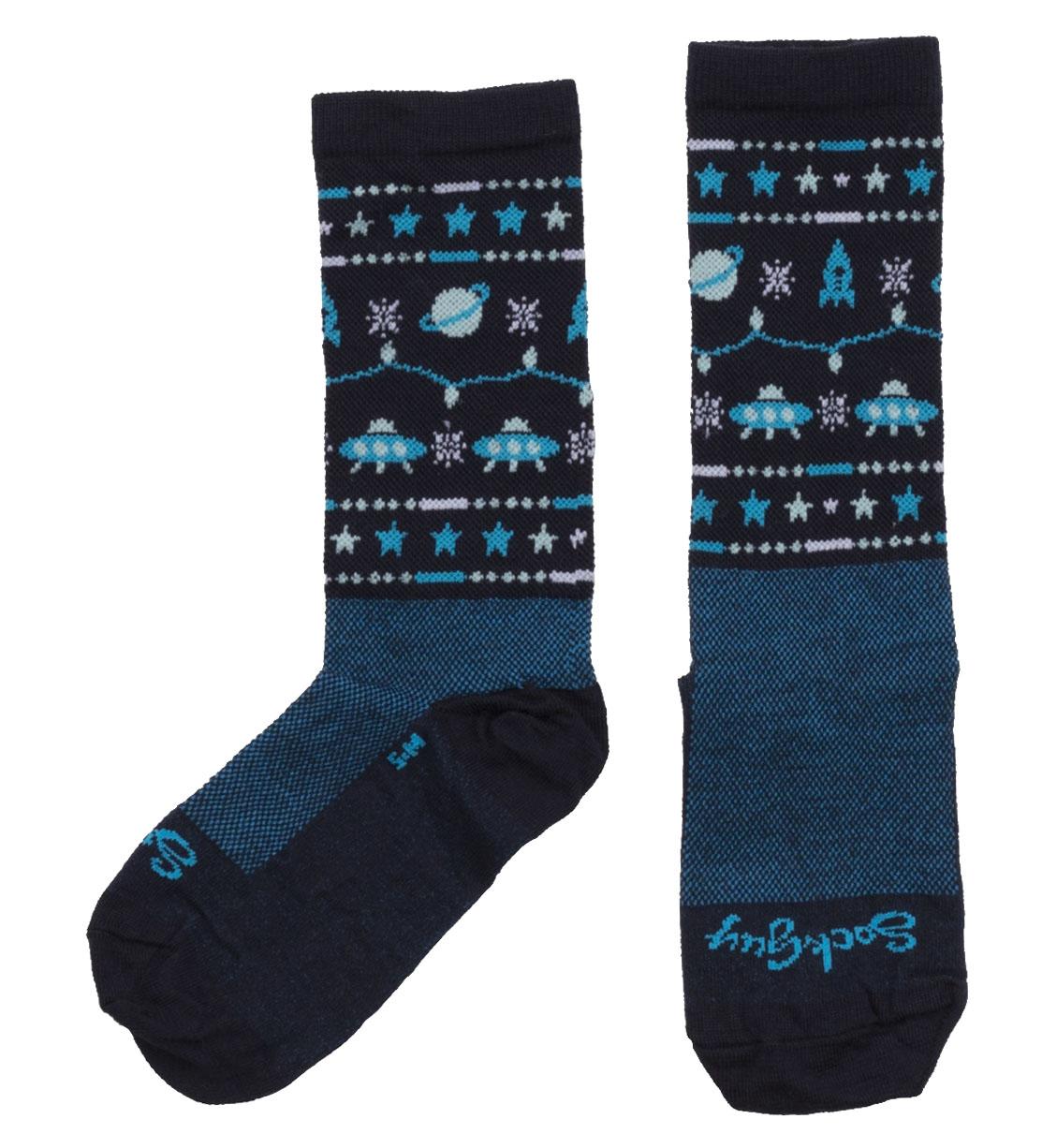 Sockguy Sweater Blue Wool Socks