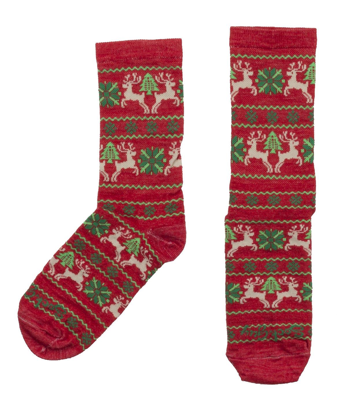 Sockguy Sweater Red Wool Socks