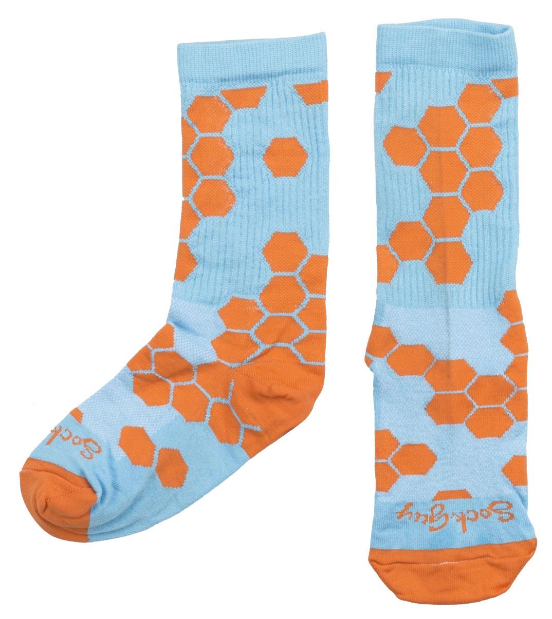 """Sockguy Honeycomb 6"""" Crew Cycling Socks"""