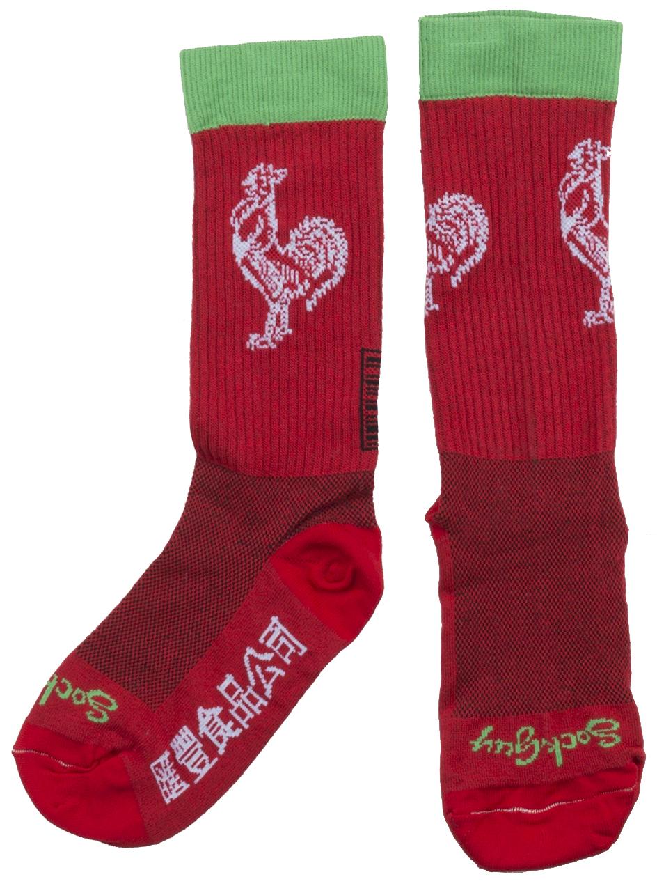"Sockguy Crew 7"" Sriracha Acrylic Socks"