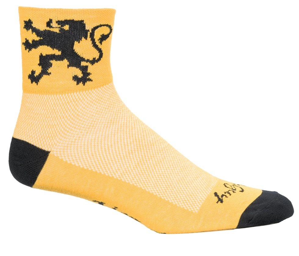 SockGuy Men/'s Lion Of Flanders Socks Yellow Large X-Large