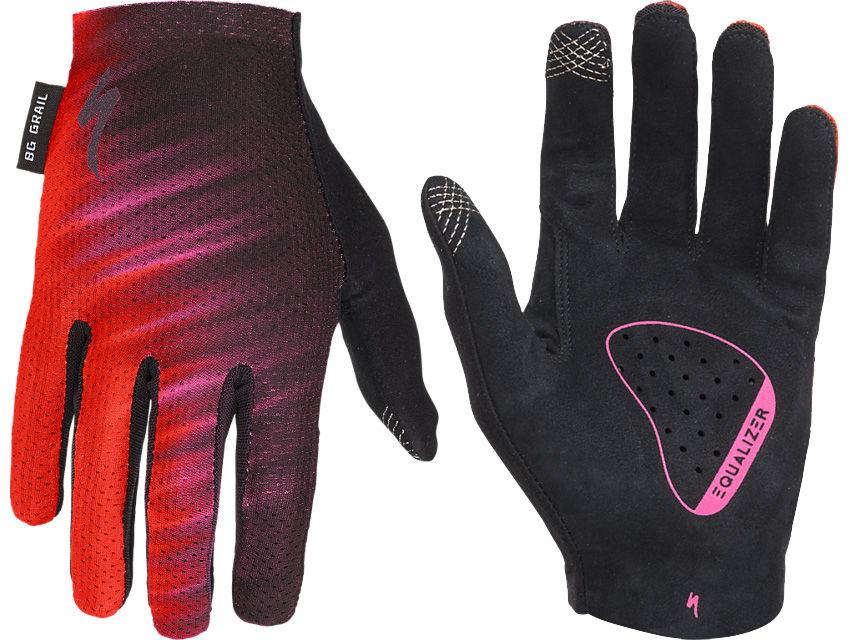 Specialized Women/'s Long-Fingered Grail Gloves 2018-Acid Red-Large