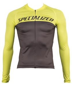 Specialized | SL Air L/S Jersey Men's | Size Extra Large in Charcoal/Ion Team