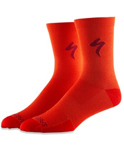 Specialized Soft Air Tall Sock Men's Size Large in Rocket Red