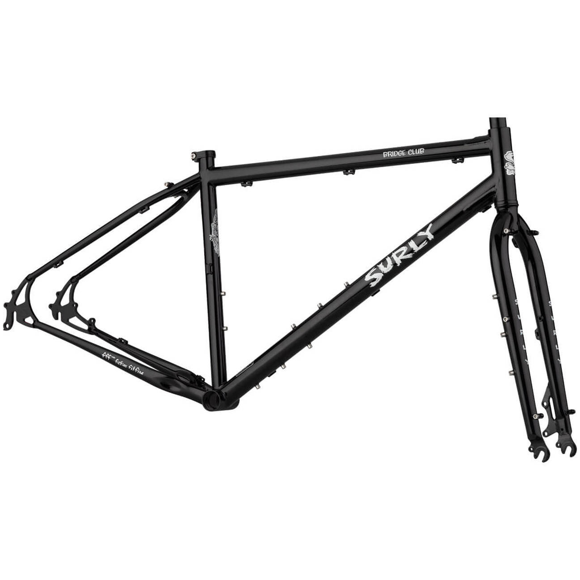 surly bicycle frame in black