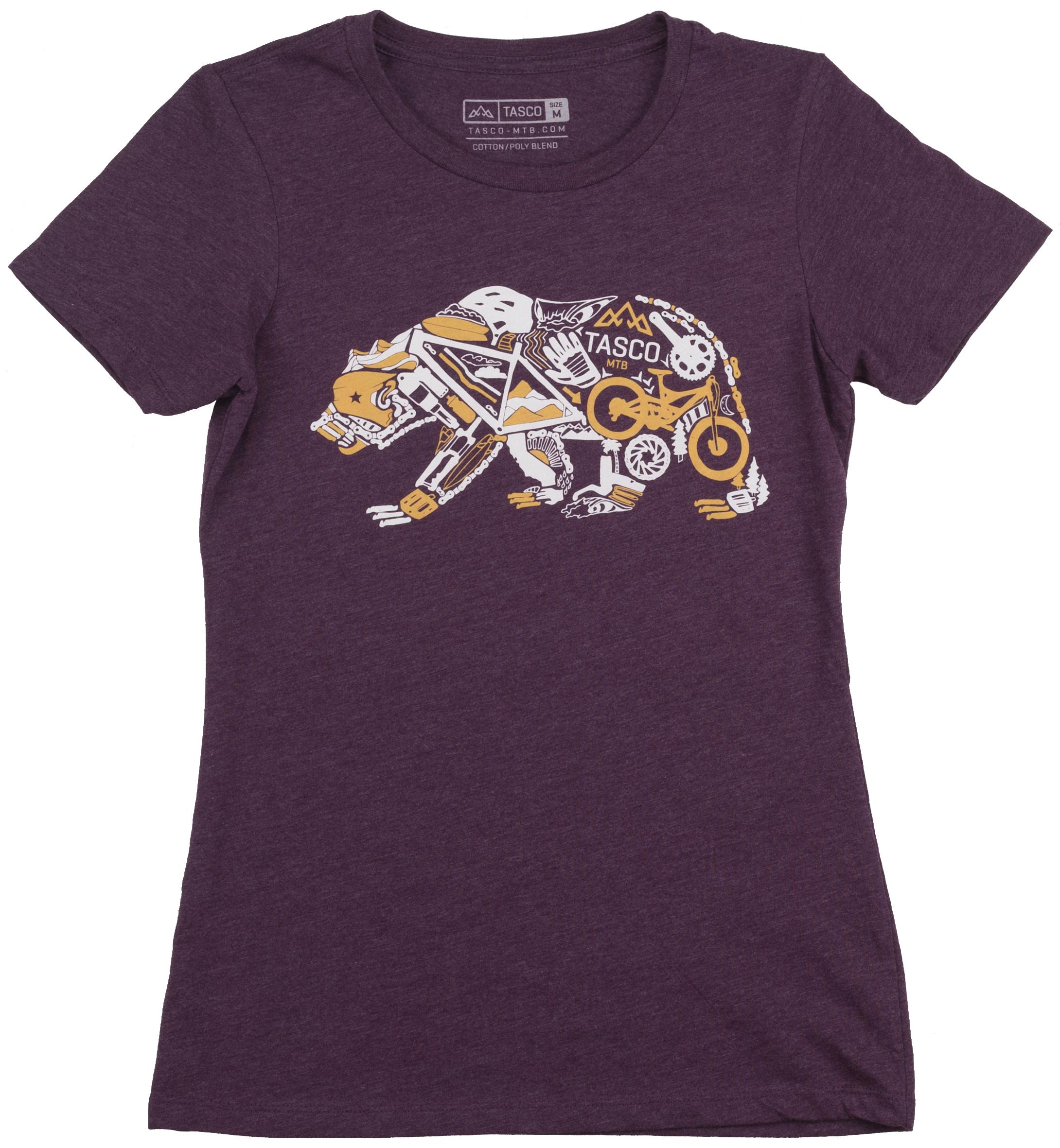 Tasco | Gear Bear Women's T-Shirt | Size Large in Plum