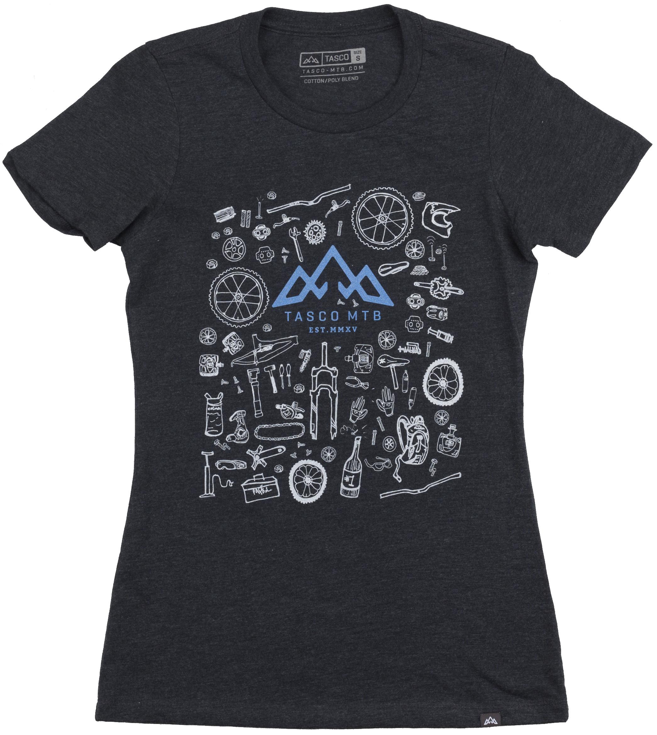 Tasco Rad Series/Bike Bits Wmn's T-Shirt Women's Size Small in Charcoal