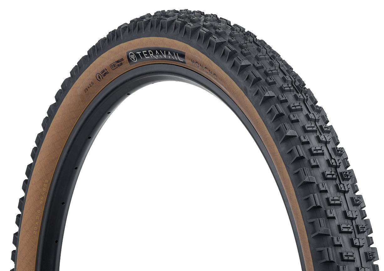 29 x 2.6 Honcho Tire Folding Light and Tan Teravail Honcho Tire Tubeless