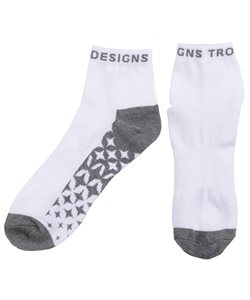 Troy Lee Designs | Starburst Qtr Crew Sock Men's | Size Small/Medium in White