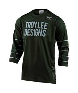 Troy Lee Designs | Ruckus 3/4 Pinstripe Jersey Men's | Size Extra Large in Green/Silver Blue