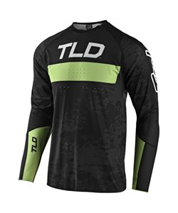 Troy Lee Designs | Sprint Ultra Jersey Grime Men's | Size Small in Black/Glo Green