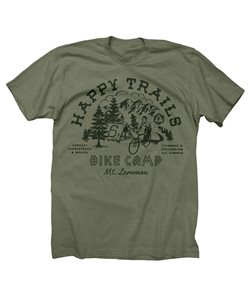 Twin Six | Happy Trails Women's T-Shirt | Size Extra Large in Army Green