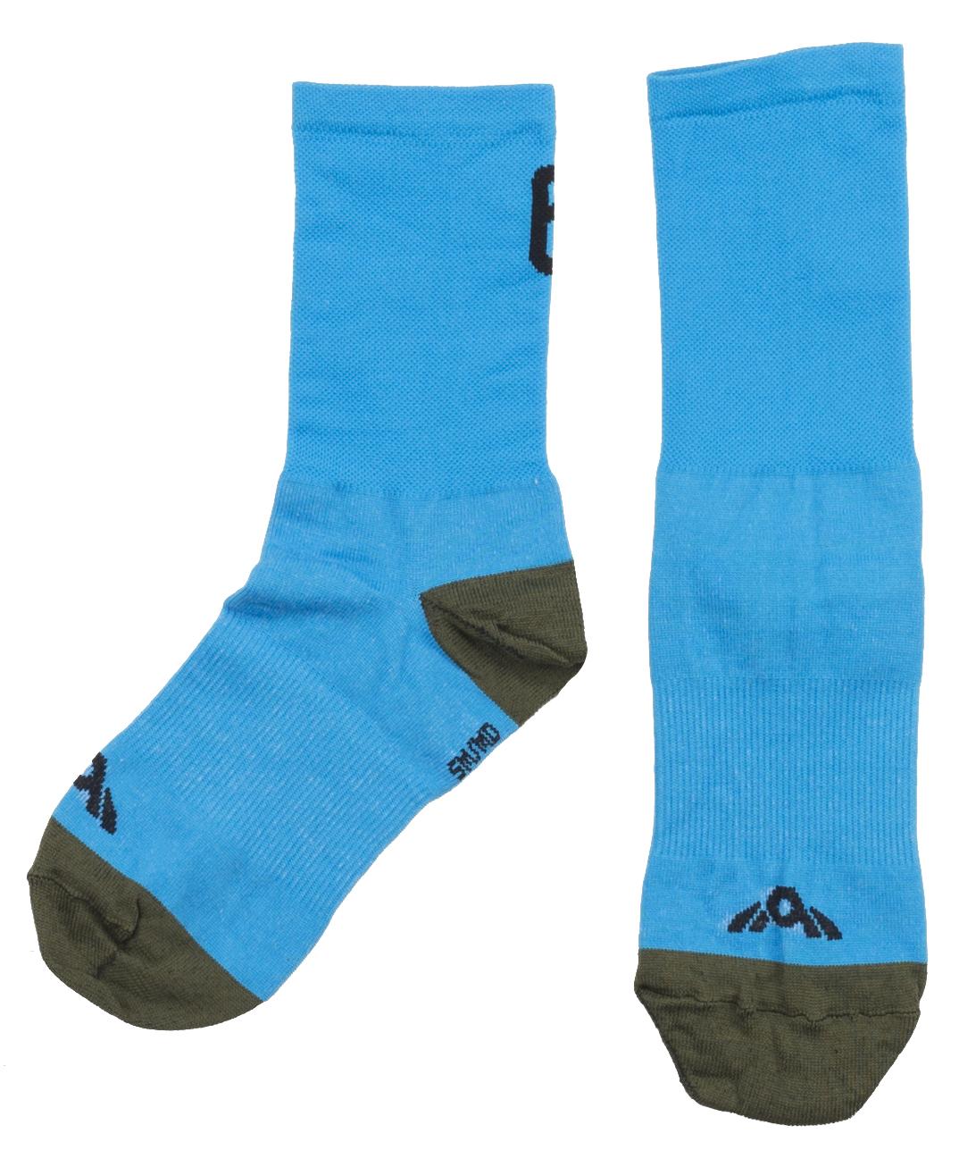 Twin Six Standard Cycling Socks Blue, SM/Med Men's Size Small/Medium