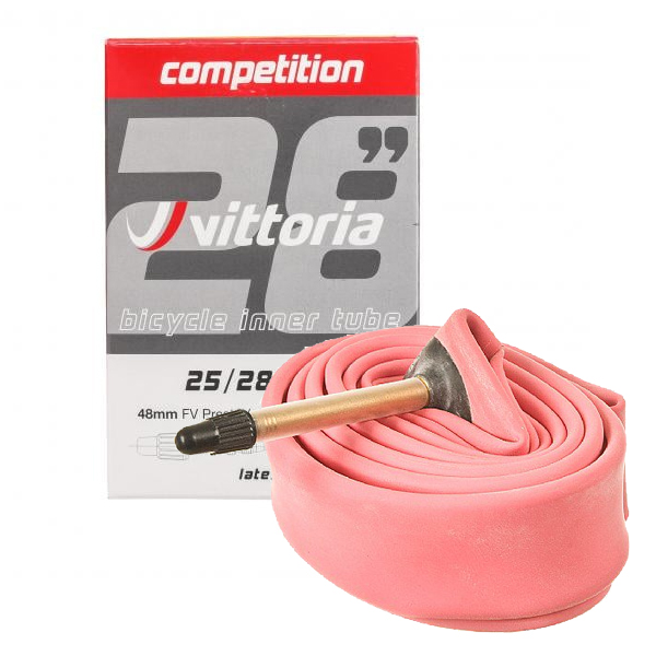 Vittoria Competition Latex Inner Tube 700x19-23C w// 48mm Presta Valve Stem