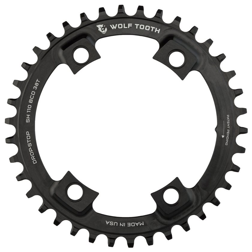 Wolf Tooth Components 42t 110bcd Drop-Stop Chainring Black