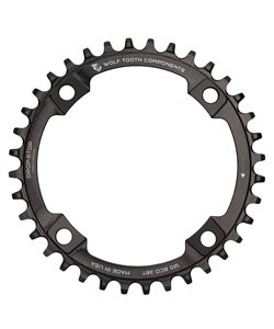 Wolf Tooth Components | 120 Bcd X 36T Chainring | Black | 36T | Aluminum