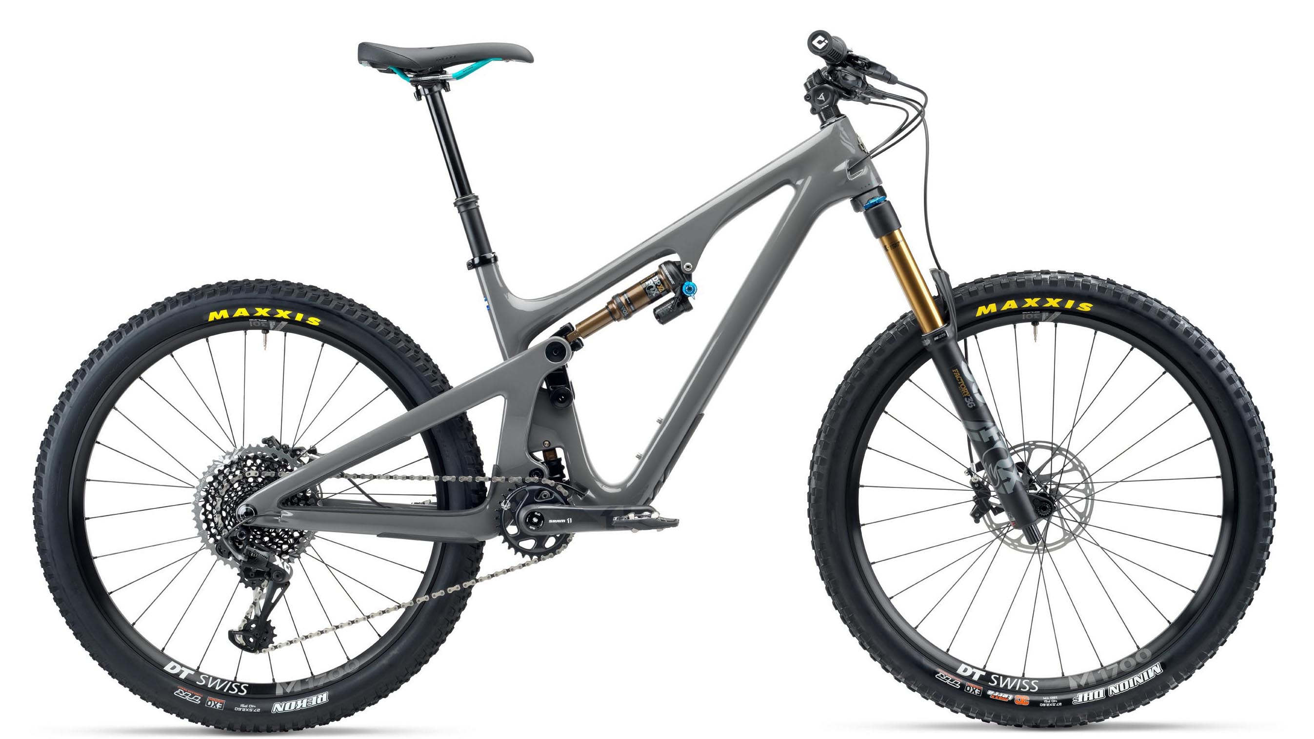 side facing yeti sb140 turq t2 bike 2020