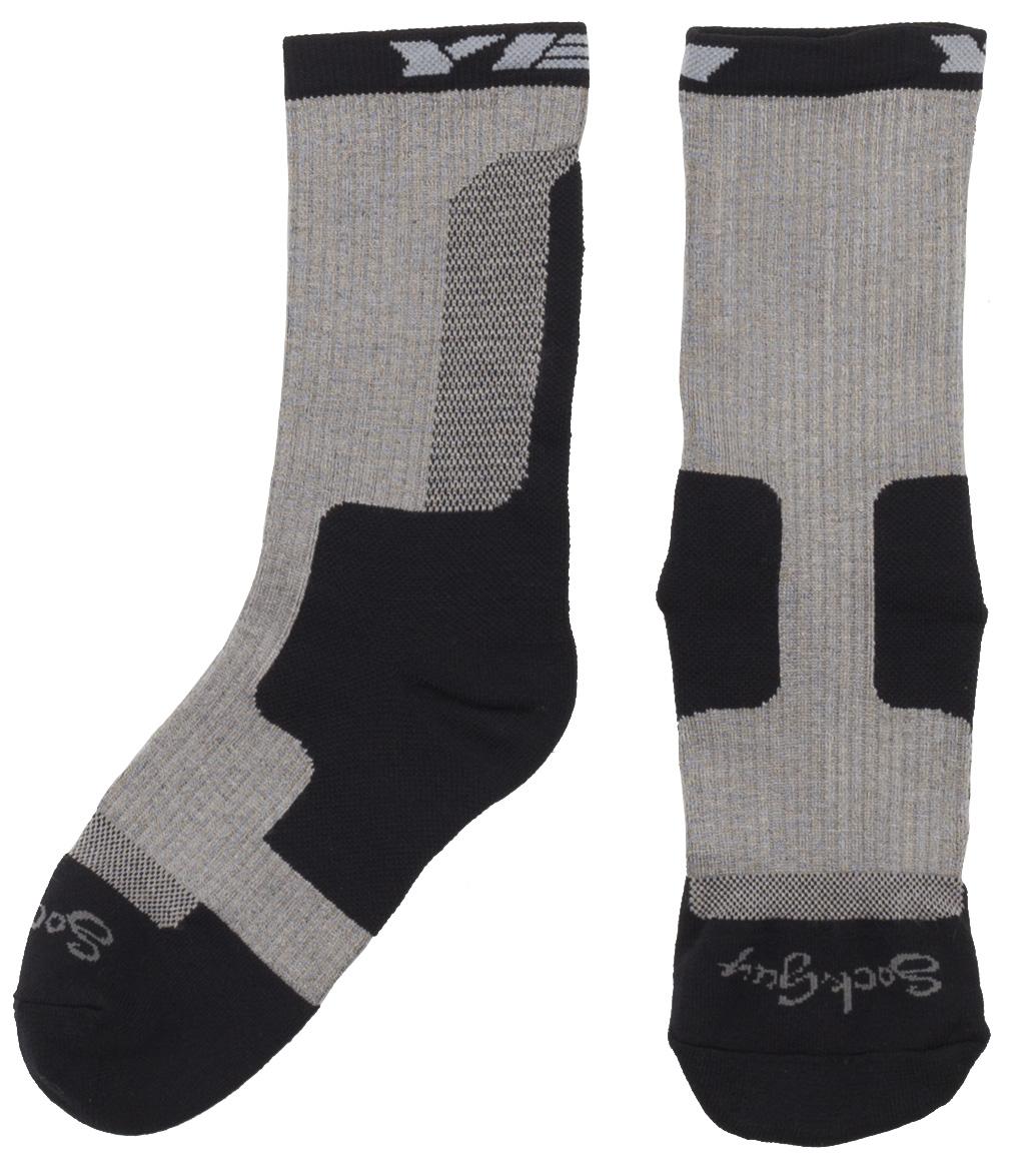 Yeti Dart Cycling Socks Men's Size Large/Extra Large in Black/Gray