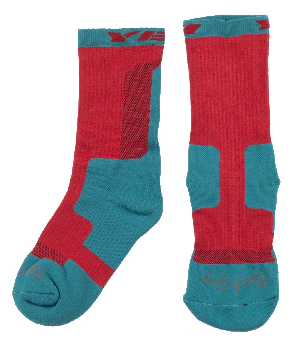 Yeti Dart Cycling Socks Men's Size Small/Medium in Turquoise/Red